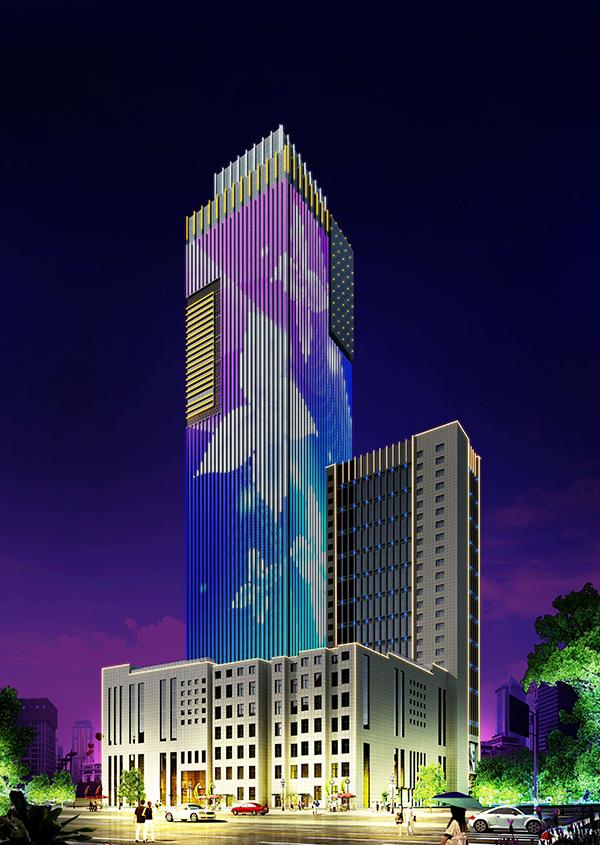 融通商务大厦楼体亮化